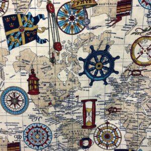 'Υφασμα με ναυτικά και θαλασσινά σχέδια_01